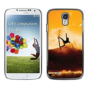 Design for Girls Plastic Cover Case FOR Samsung Galaxy S4 Sunset Surf Surfer Cool Wave OBBA