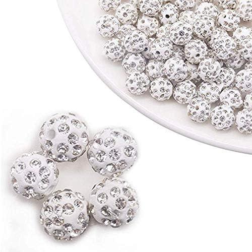 DIY Jewelry 20pcs Czech Crystal Rhinestones Round Spacer Bead 8//10mm