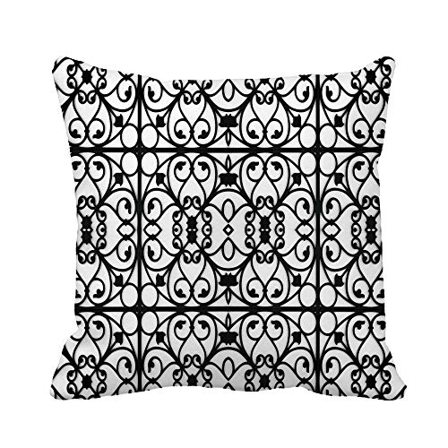 Awowee Throw Pillow Cover Antique Pattern of The Wrought Iron Angel Architecture Beautiful 20x20 Inches Pillowcase Home Decorative Square Pillow Case Cushion Cover