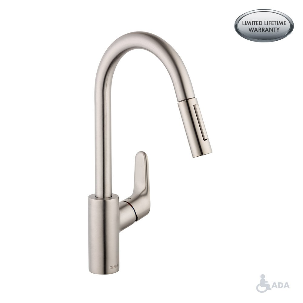 Focus 2-Spray HighArc Kitchen Faucet, Pull-Down, 1.75 GPM