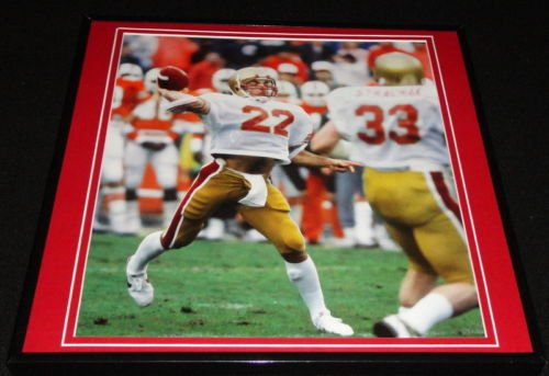 Doug Flutie Framed 12X12 Poster Photo Boston College Hail Mary