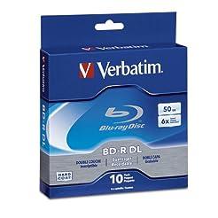 Verbatim BD-R 50GB 6X Blu-ray Recordable...