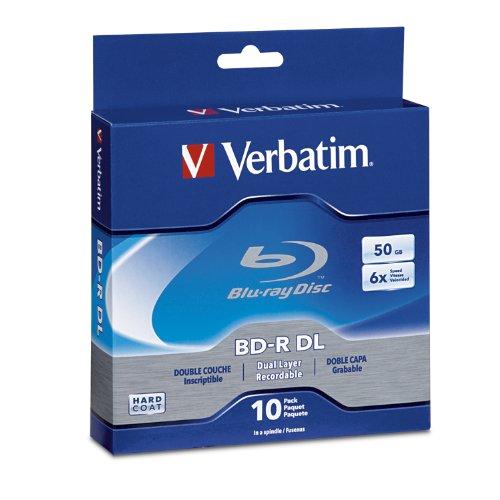 Verbatim BD-R 50GB 6X Blu-ray Recordable Media Disc - 10 Pack Spindle