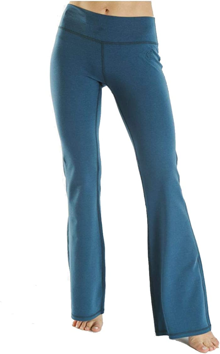 "Green Apple 33"" Relaxed Fit Yoga Flare Pants Womens Active Workout Yoga Pant"