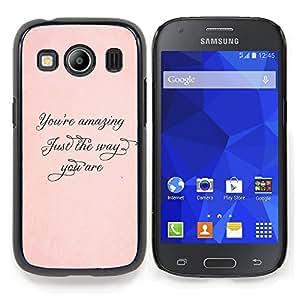 Stuss Case / Funda Carcasa protectora - Increíble Apenas la manera melocotón Oro Caligrafía - Samsung Galaxy Ace Style LTE/ G357