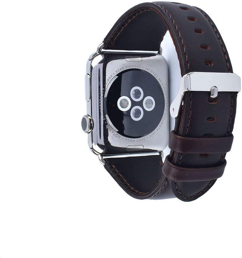 NUT Compatible for Apple Watch Band 38mm 40mm S/M Genuine Leather Strap Replacement Band with for I Watch Series 4/3/2/1