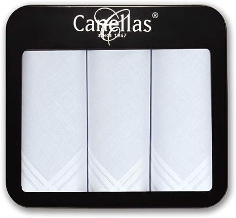 Canellas M110 algodón, Blanco, Tamaño del pañuelo 43 cm Hombres ...