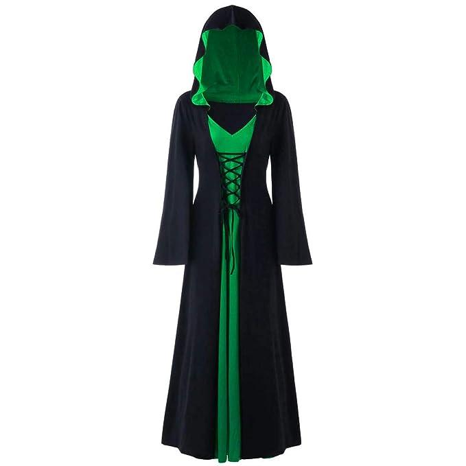 Vestido Vintage Mujer Encapuchado Medievales Disfraz Renacentista Cosplay de Halloween Holatee