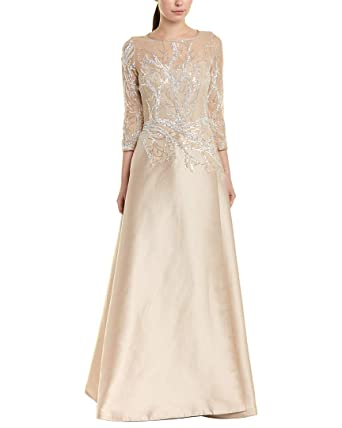 b3106b17ed9d Amazon.com: Teri Jon Womens by Rickie Freeman Silk-Blend Gown, 12 ...