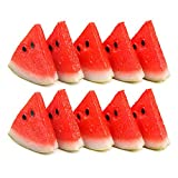 10Pcs Artificial Watermelon Slice Fake Food Fruit Great Home Decoratio, 2.05X2.05 INCH