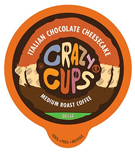 Crazy Cups Coffee Pods K-Cups 4/22 Count Capsules SEALED Espresso Flavored/Caffeine / Decaf/Extra Caffeine Keurig Compatible ALL FLAVORS (22 Pods Decaf Italian Chocolate - Vanilla Milk Italian