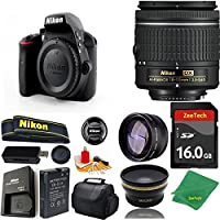 Great Value Bundle for D3300 DSLR – 18-55mm AF-P + 16GB Memory + Wide Angle + Telephoto Lens + Case