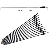 Black Nock Archery Hunt White Vanes Fiberglass Arrows OD7mm 6 Pcs