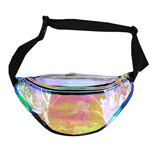 Mily Silver Hologram Fanny Pack Laser Fanny Pack Perfect for