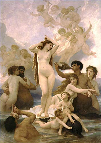 ($50-$2000 Handmade Oil Painting by College Teachers - Naissance de Venus William Adolphe Bouguereau Nude Classic NCC3 Canvas Art for Home Wall Decoration -Size 06)