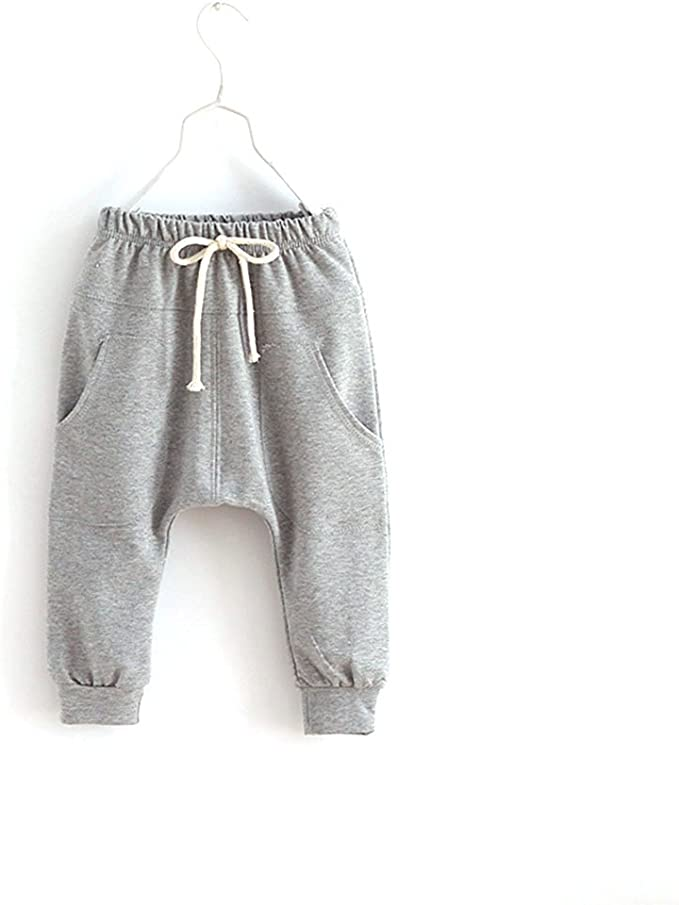 Daxin Baby Boys Girls Jersey Harem Pants Elastic Bottoms Trousers 2-7Y Blue