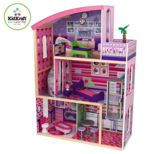 Kidkraft Wooden Modern Dream Glitter Dollhouse fits barbie