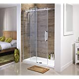 Orca Frameless Sliding Shower Door for Alcoves | All Sizes 8mm Toughened Safety Glass with Easy Clean Coating (1000mm) by Orca
