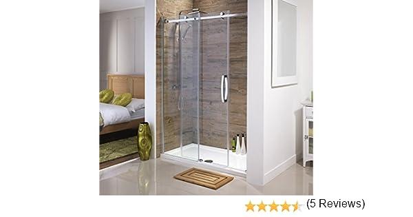 Orca® Mampara de ducha deslizante sin marco | Todos los tamaños | Vidrio de seguridad templado de alta calidad de 8 mm de espesor con revestimiento de fácil limpieza, 1000 mm: Amazon.es: Hogar