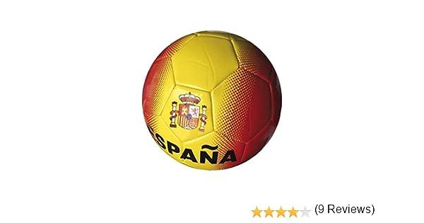 Junatoys spaña Balón fútbol, Hombre, Rojo/Amarillo, Talla Única ...