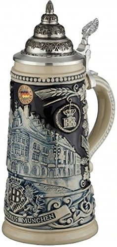 Beer Steins By King - HB Muich Hofbrauhaus Relief Stein 0.5l Limited Edition Stone (Hofbrauhaus Beer Stein)