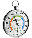 TFA 45.2027 Indoor Hair tension hygrometer Chrome hygrometer/psychrometer - Hygrometers & Psychrometers (Analog, Round, 113 mm, 35 mm, 65 g, 10.2 cm)
