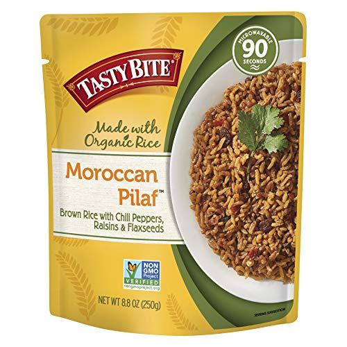 Tasty Bite Rice Moroccan Pilaf 8.8 Ounce (Pack of 6), Fully Cooked Moroccan Entr
