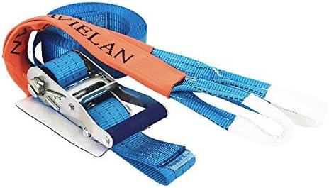 アヴィエラン(AVIELAN) ラッシングベルトIフック ×4m(ロープフック対応) 固定側0.7m