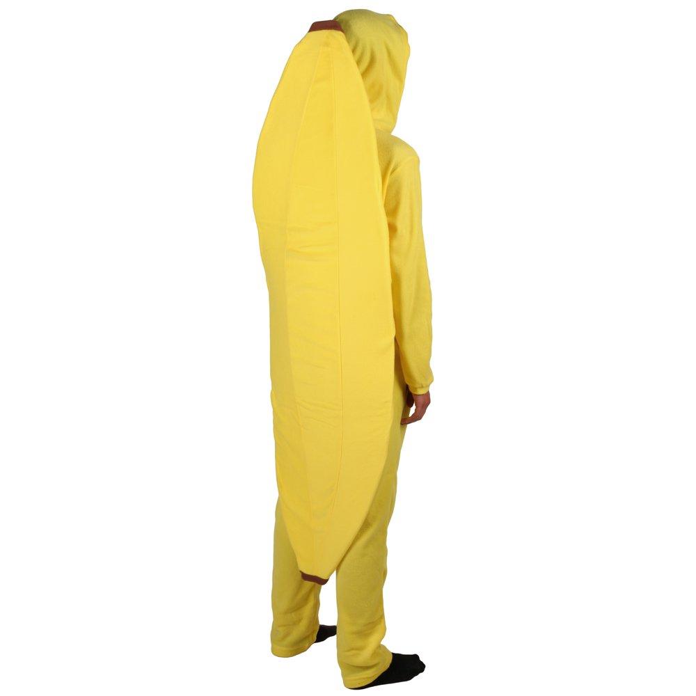 Bioworld Merchandising Men's Unisex Banana Hooded One Piece Pajama ZU43DDG