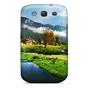 AngelaMs Design High Quality Beautiful Town Lscape Cover Case With Excellent Style For Galaxy S3