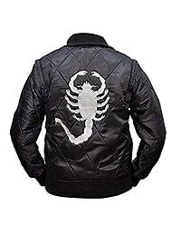 Haute_Fashions Scorpion Men's Logo Drive Bomber Satin Jacket