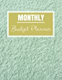 Monthly Budget Planner: Blue Sky Cloth Surface