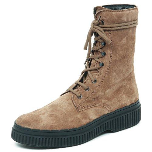 Dark Scuro Boot E5194 Shoe Beige Beige Donna Anfibio Scarpe Tod's Woman Tronchetto gqWUtH6nw