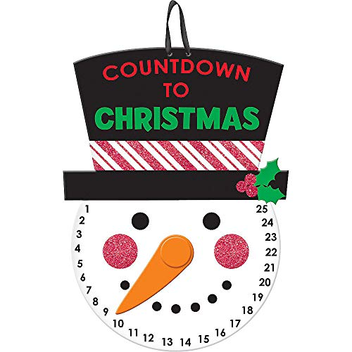 MOTYYA Christmas Snowman Advent Calendar, Door Hanging Xmas 25 Day Countdown for The Holidays, Winter Wooden Wall & Indoor Christmas Tree Decorations for Kids Adults - Days Until Christmas Count Down (Until Days 107 Christmas)