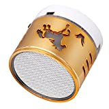 MChoice New Super Bass Mini Portable Bluetooth Handsfree Wireless Speaker With LED Light (Gold)