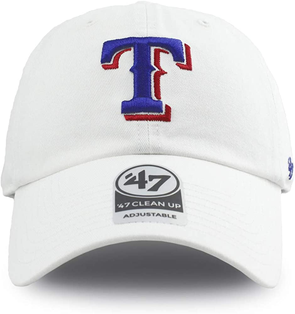 47 Texas Rangers Clean Up Hat Adjustable White
