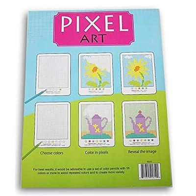 Pixel Art Surprise Images Coloring Book (Dog): Toys & Games