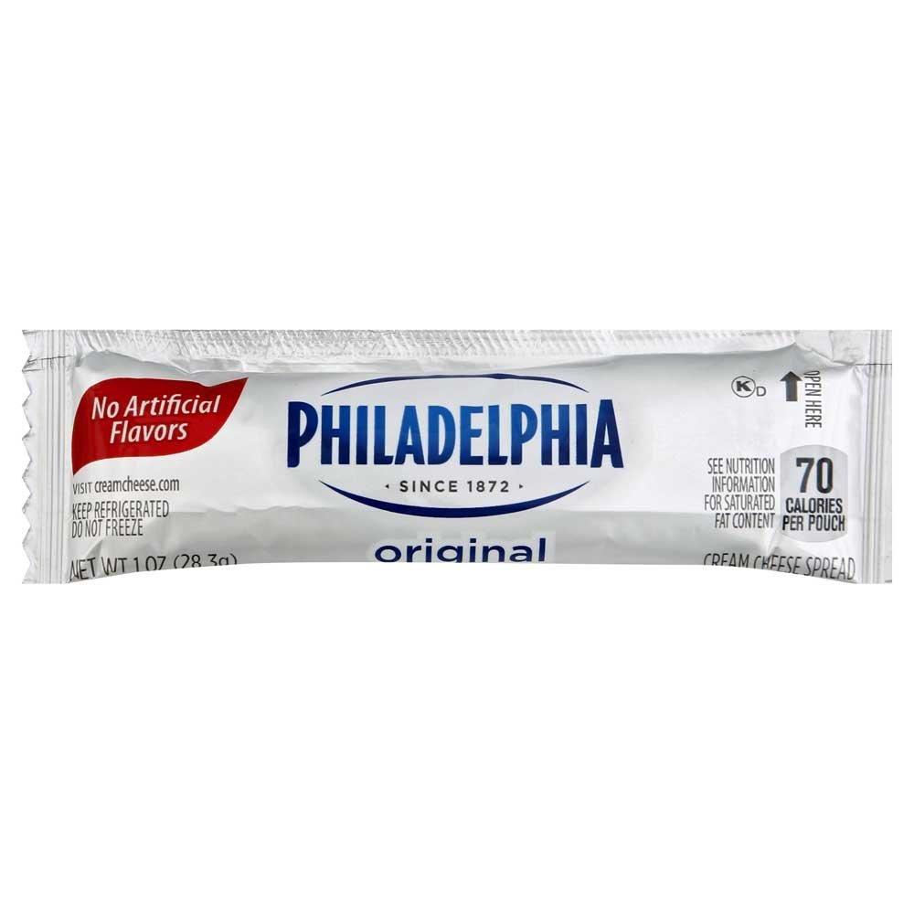 Kraft Philadelphia Original Cream Cheese Spread - Pouch, 1 Ounce - 100 per case. by Philadelphia
