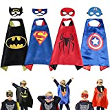 Superhero Dress up Costumes Kids Cartoon Capes Set with Masks for Party Boys Birthday