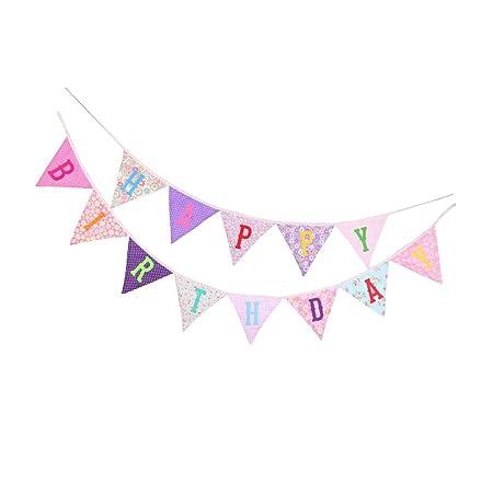 FLAMEER Banderines Feliz Cumpleaños de Letra Happy Birthday ...