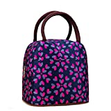 Fashion Zipper Lunch Bag Picnic Box Cosmetic Bag for Women Girls Tote Handbag