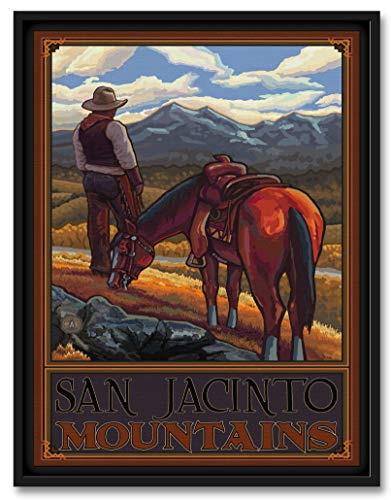 San Jacinto Mountains Professionally Framed Giclee Archival Canvas Wall Art for Home & Office by Paul A. Lanquist (9