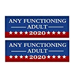 GuangTouL Any Functioning Adult 2020 Funny Bumper Sticker, 2 Pack 9 X 3 inch Car Truck Decal-2020 US Presidential Election (2 Pack)