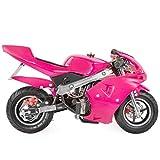 XtremepowerUS 40CC Mini Pocket Bike Motorcycle Gasoline Mini Motorcycle 40cc 4-Stroke Engine EPA, Pink