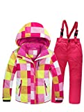 Mallimoda Boy's Girl's Winter Colorblock Ski Jacket 2-Piece Snowsuit Pink 2 Size 7