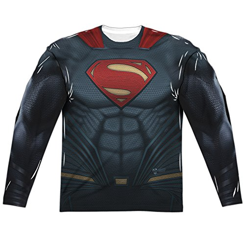 Trevco Men's V Superman Batman Uniform L/S Allover T-Shirt at Gotham City Store