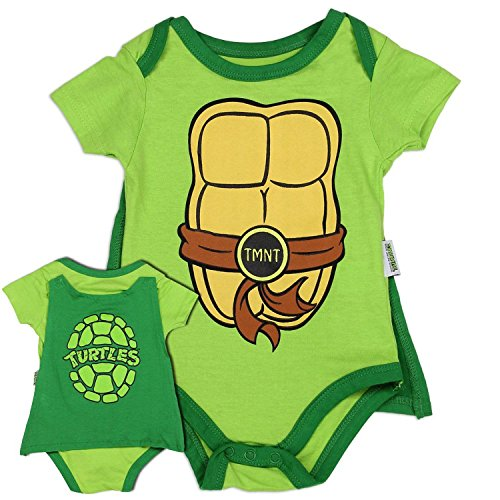 Teenage Mutant Ninja Turtles Newborn Creeper with Cape, 3-6 Months -
