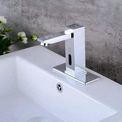 HF-ZEN 立体水栓 万能水栓 キッチンシンクタップバスルームのシンクの蛇口メッキが蛇口蛇口メッキの蛇口、シルバー、耐久性