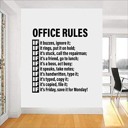 opdean Wall Words Sayings Removable Lettering Office Rules Room Space Idea Workplace Wall Tattoo Decals Teamwork Home Decor