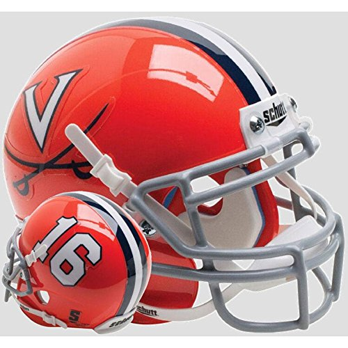 Virginia Cavaliers Orange 16 Officially Licensed Full Size XP Replica Football Helmet